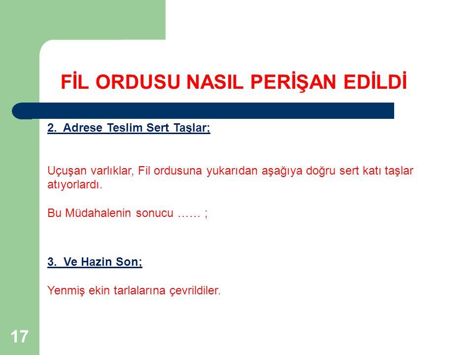 FİL ORDUSU NASIL PERİŞAN EDİLDİ