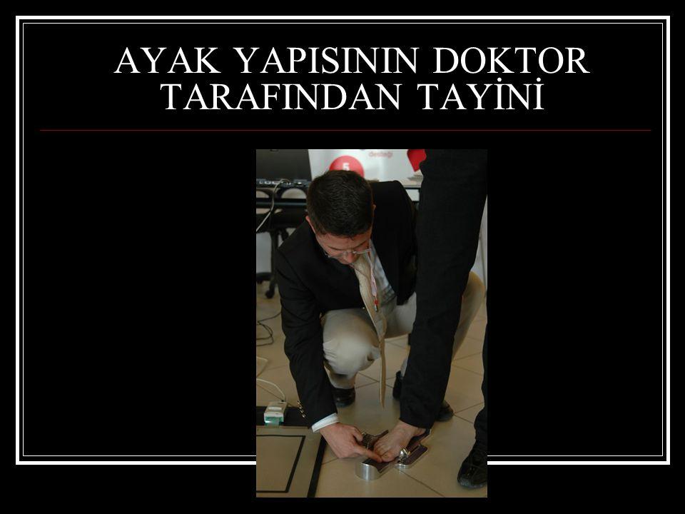 AYAK YAPISININ DOKTOR TARAFINDAN TAYİNİ
