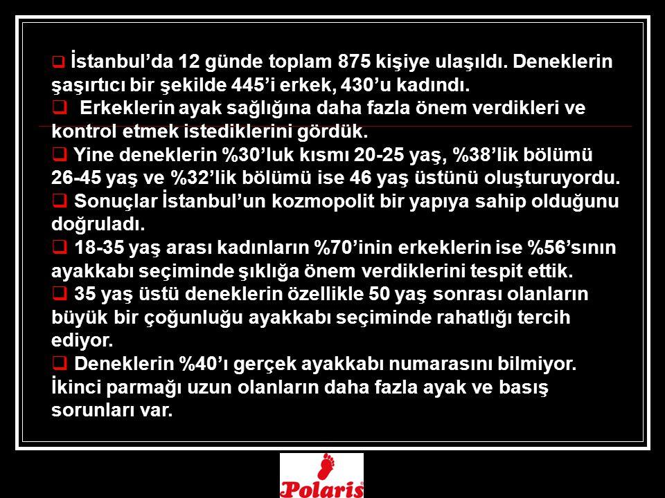Sonuçlar İstanbul'un kozmopolit bir yapıya sahip olduğunu doğruladı.