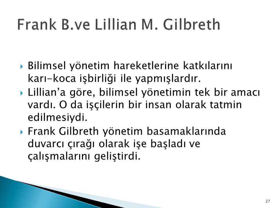 Frank B.ve Lillian M. Gilbreth