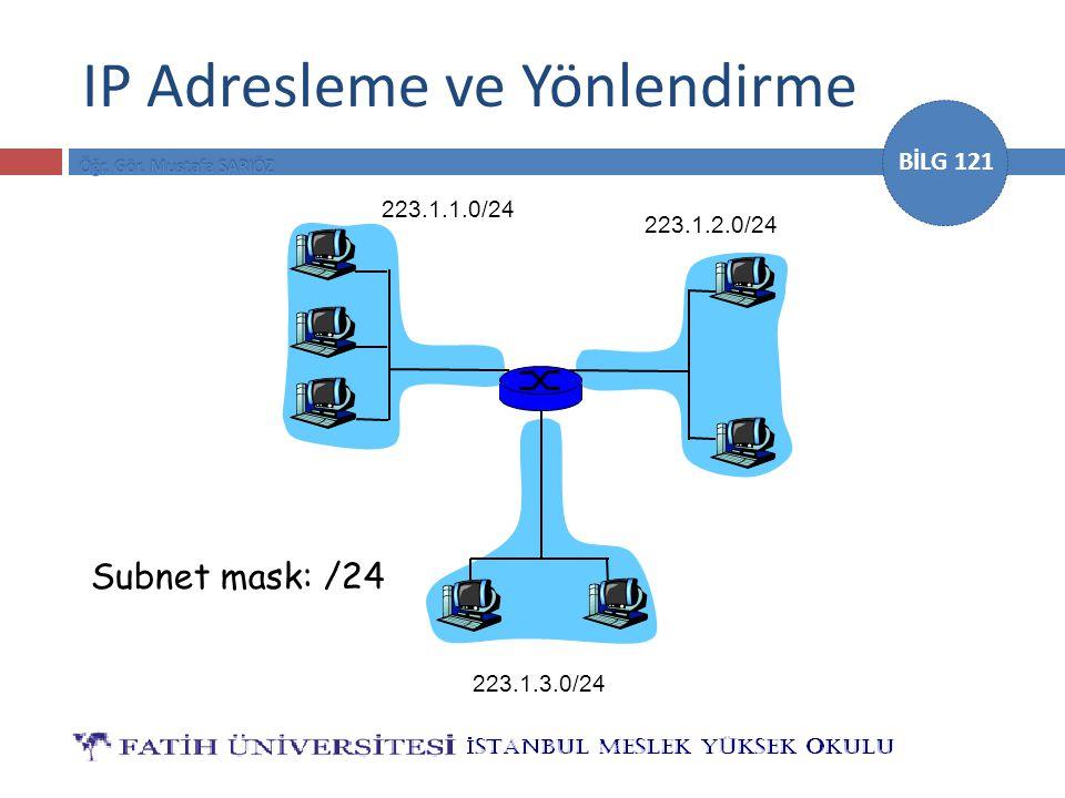 IP Adresleme ve Yönlendirme
