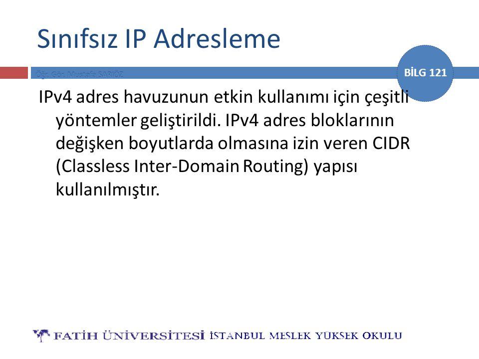 Sınıfsız IP Adresleme