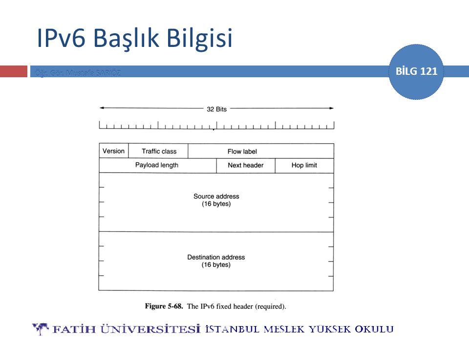 IPv6 Başlık Bilgisi
