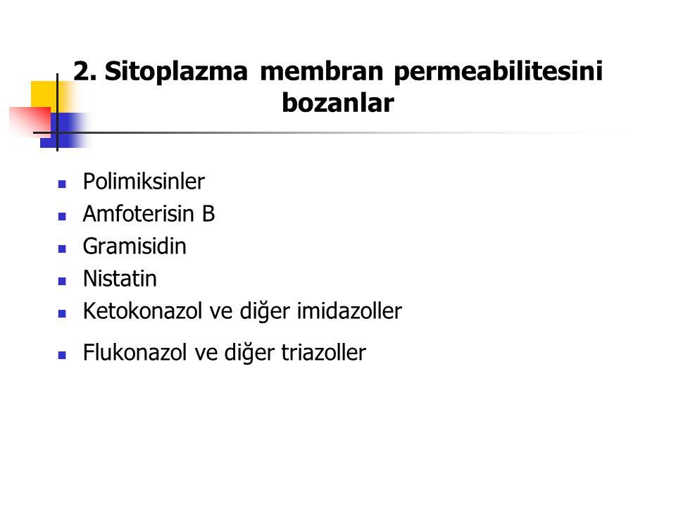 2. Sitoplazma membran permeabilitesini bozanlar