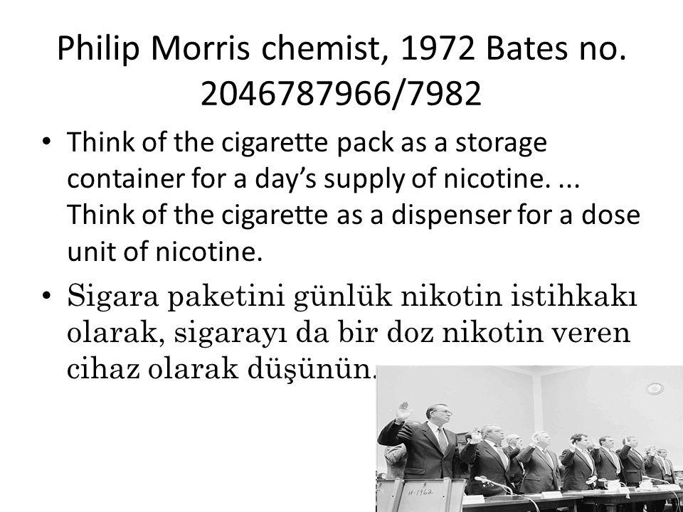 Philip Morris chemist, 1972 Bates no. 2046787966/7982