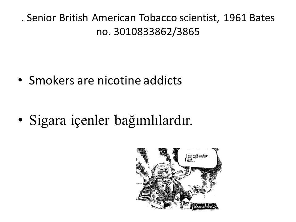 Sigara içenler bağımlılardır.