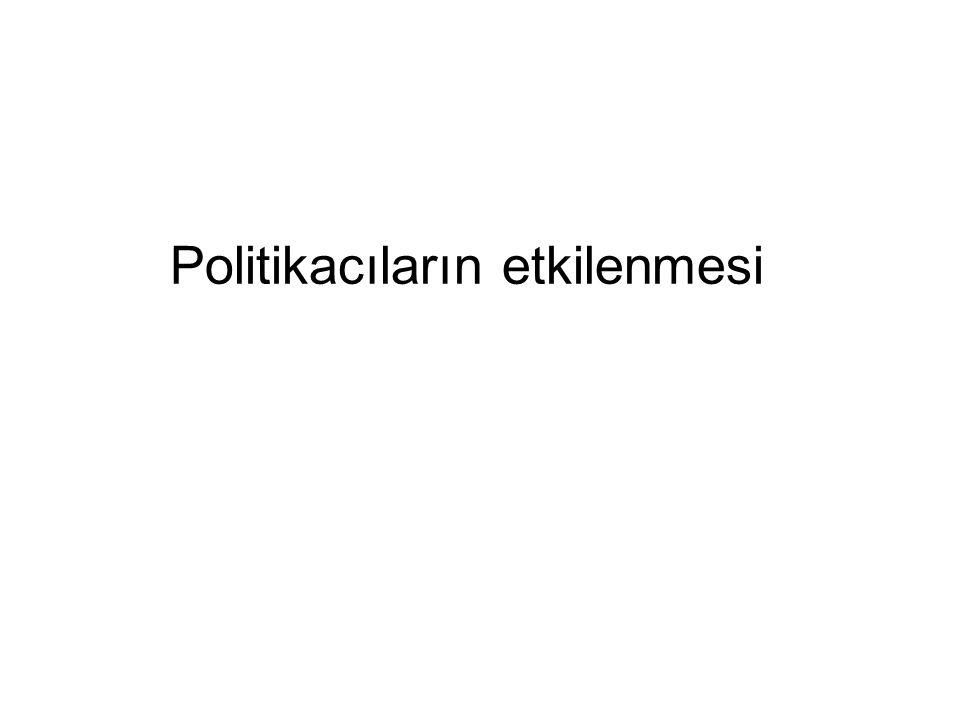 Politikacıların etkilenmesi