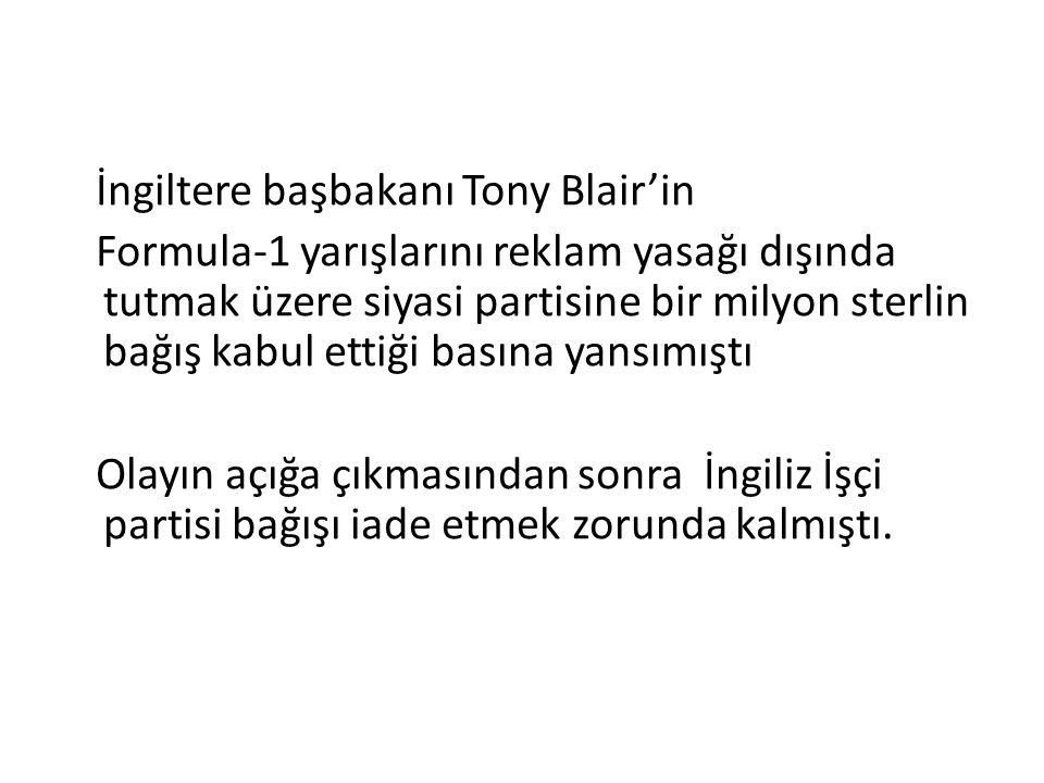 İngiltere başbakanı Tony Blair'in