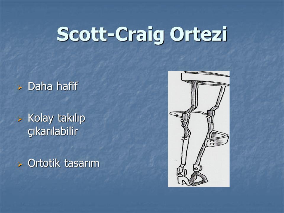 Scott-Craig Ortezi Daha hafif Kolay takılıp çıkarılabilir