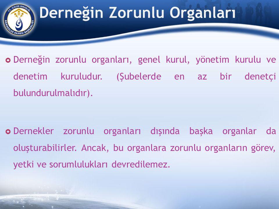 Derneğin Zorunlu Organları