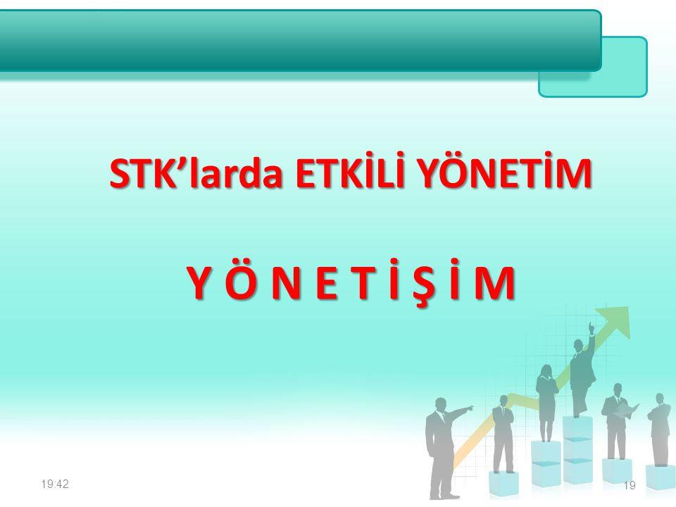 STK'larda ETKİLİ YÖNETİM