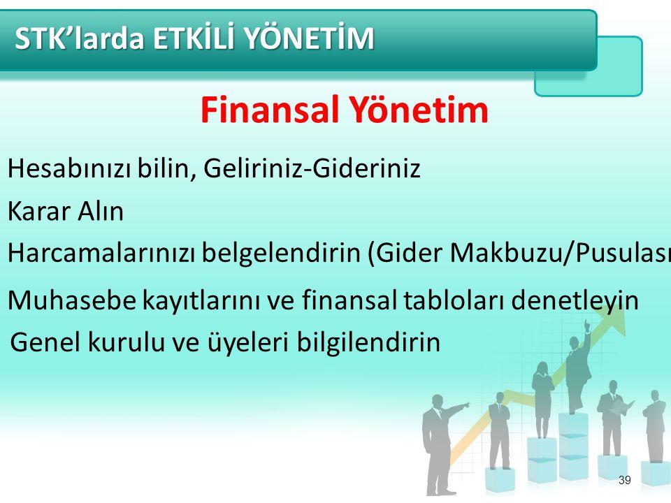 Finansal Yönetim STK'larda ETKİLİ YÖNETİM