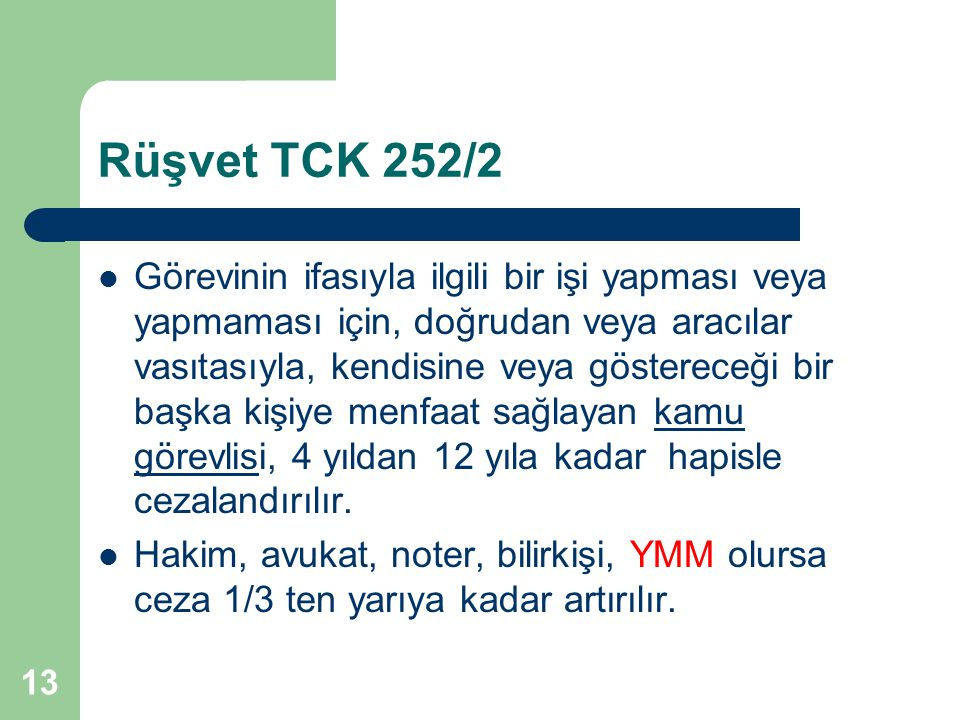 Rüşvet TCK 252/2