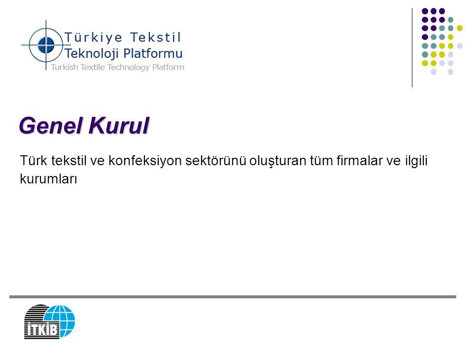 Genel Kurul Türk tekstil ve konfeksiyon sektörünü oluşturan tüm firmalar ve ilgili kurumları 12