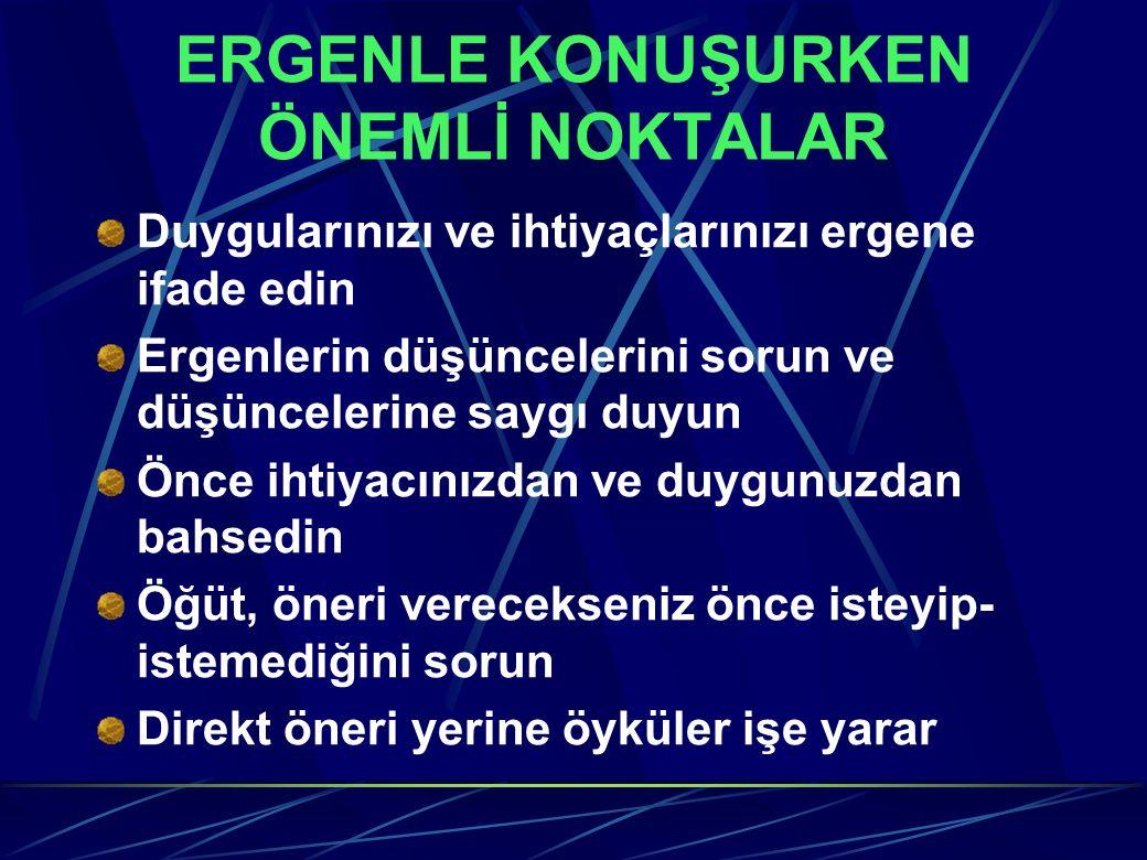 ERGENLE KONUŞURKEN ÖNEMLİ NOKTALAR