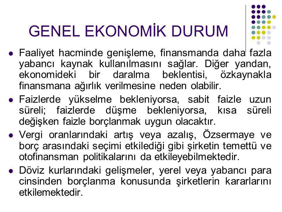 GENEL EKONOMİK DURUM