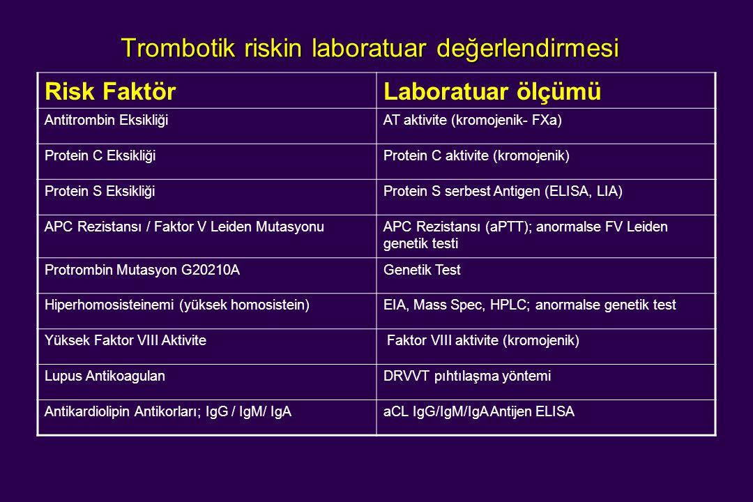 Trombotik riskin laboratuar değerlendirmesi