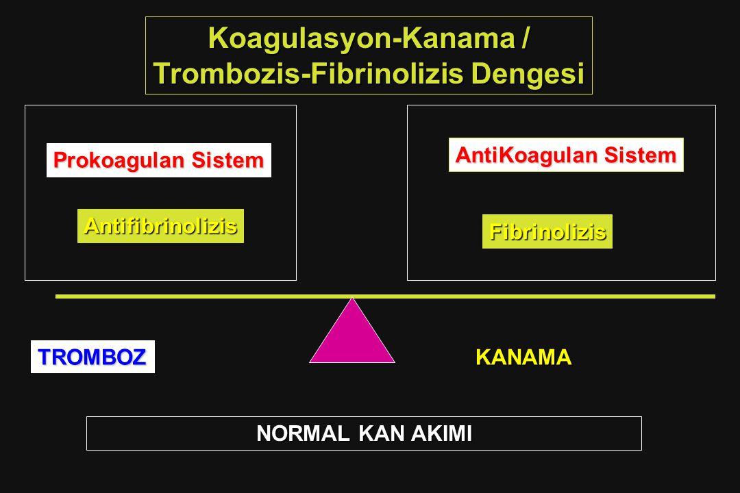 Trombozis-Fibrinolizis Dengesi