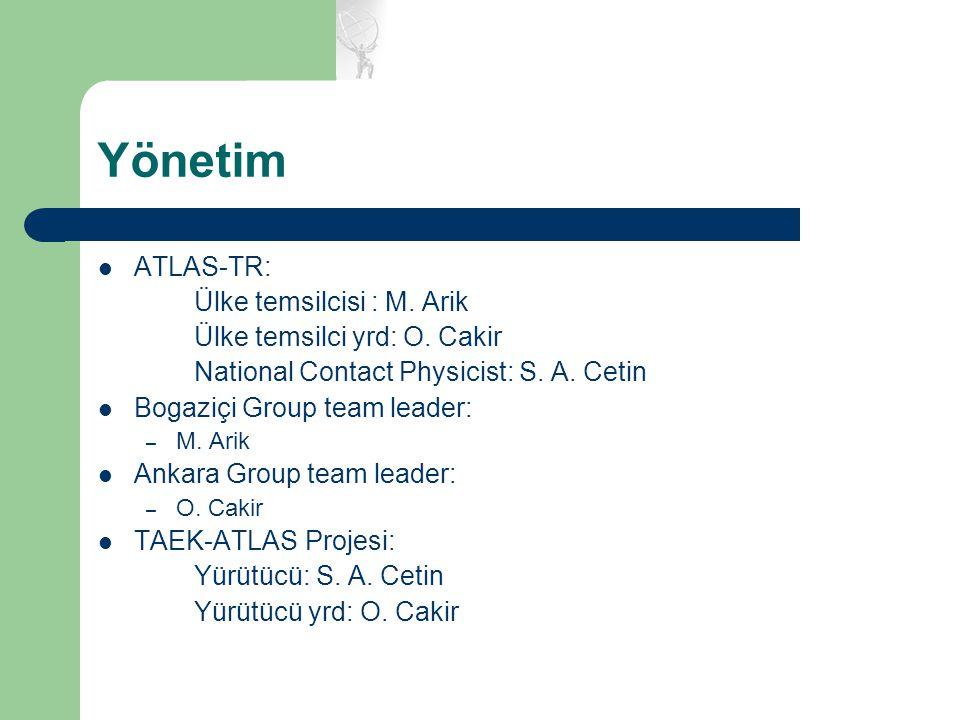 Yönetim ATLAS-TR: Ülke temsilcisi : M. Arik