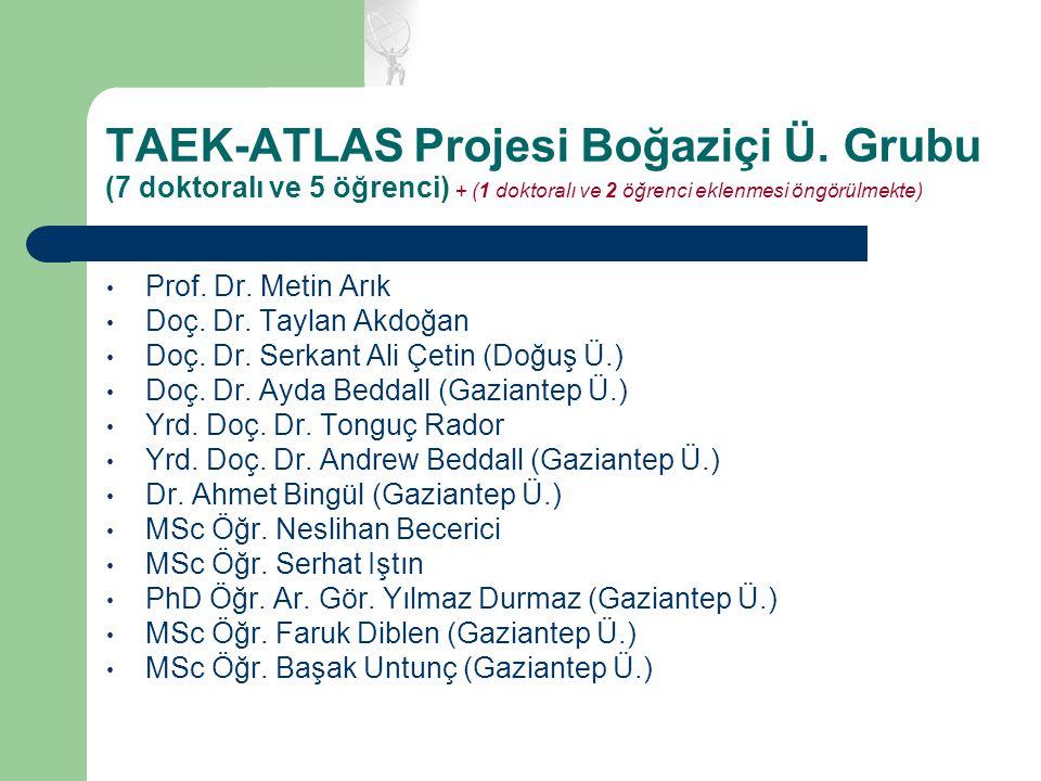 TAEK-ATLAS Projesi Boğaziçi Ü