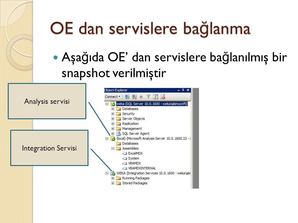 OE dan servislere bağlanma