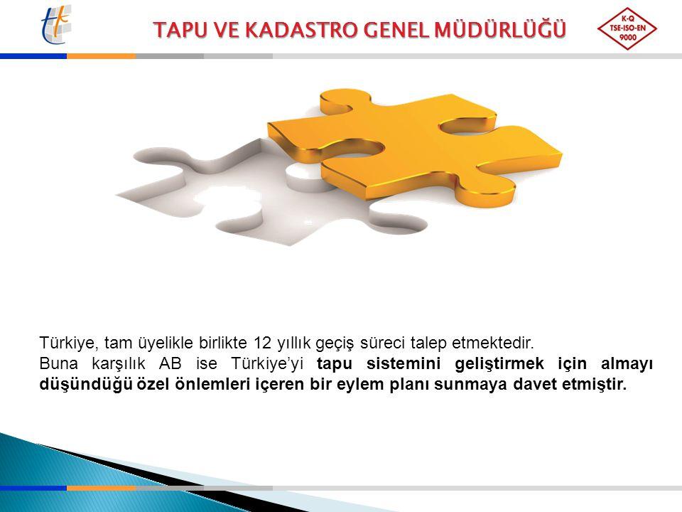 Türkiye, tam üyelikle birlikte 12 yıllık geçiş süreci talep etmektedir.