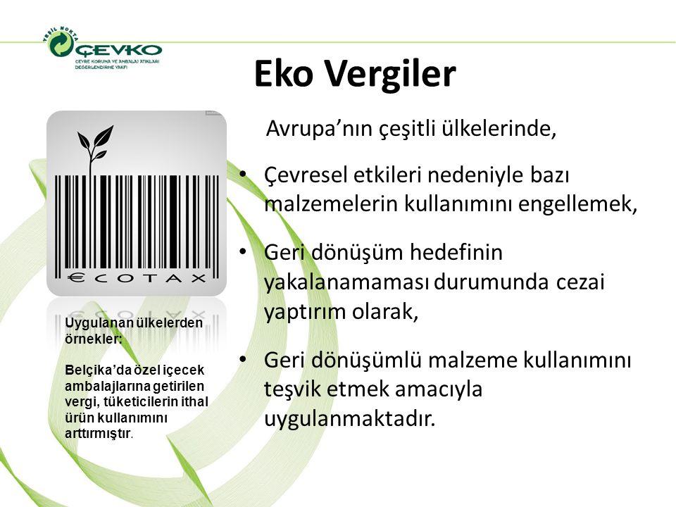Eko Vergiler Avrupa'nın çeşitli ülkelerinde,