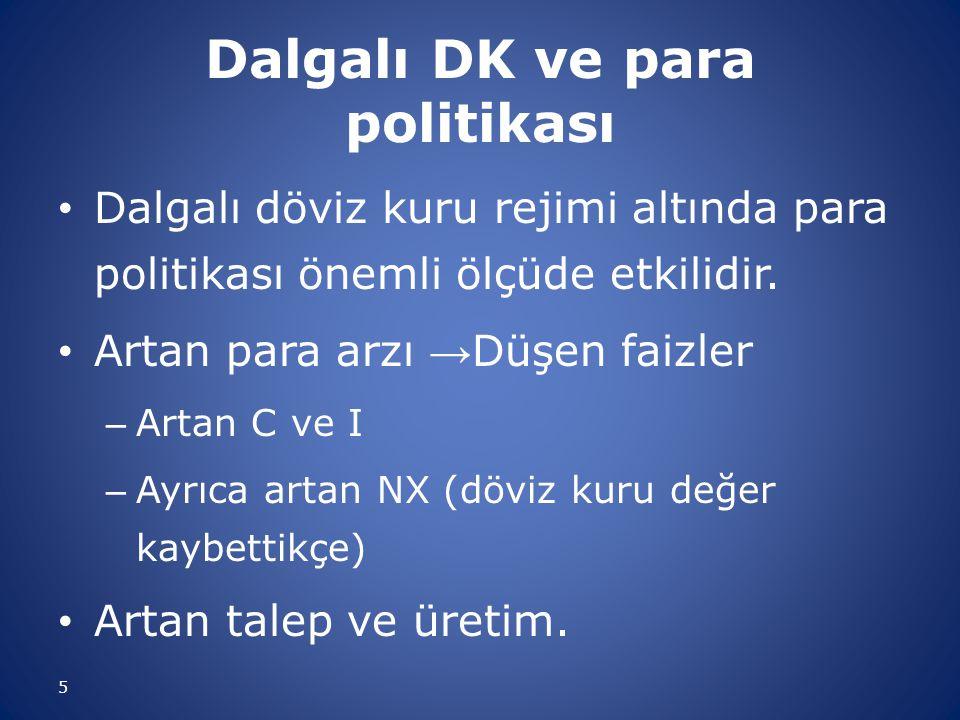 Dalgalı DK ve para politikası