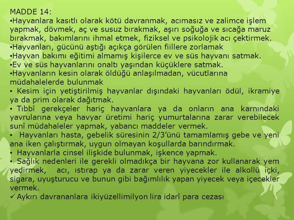 MADDE 14: