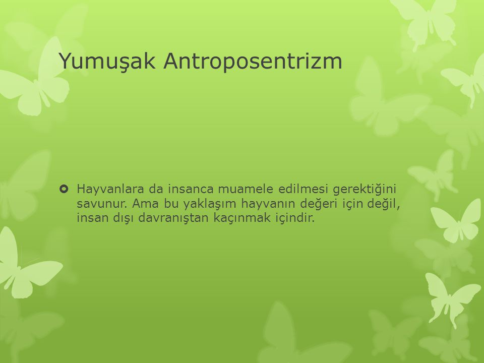 Yumuşak Antroposentrizm