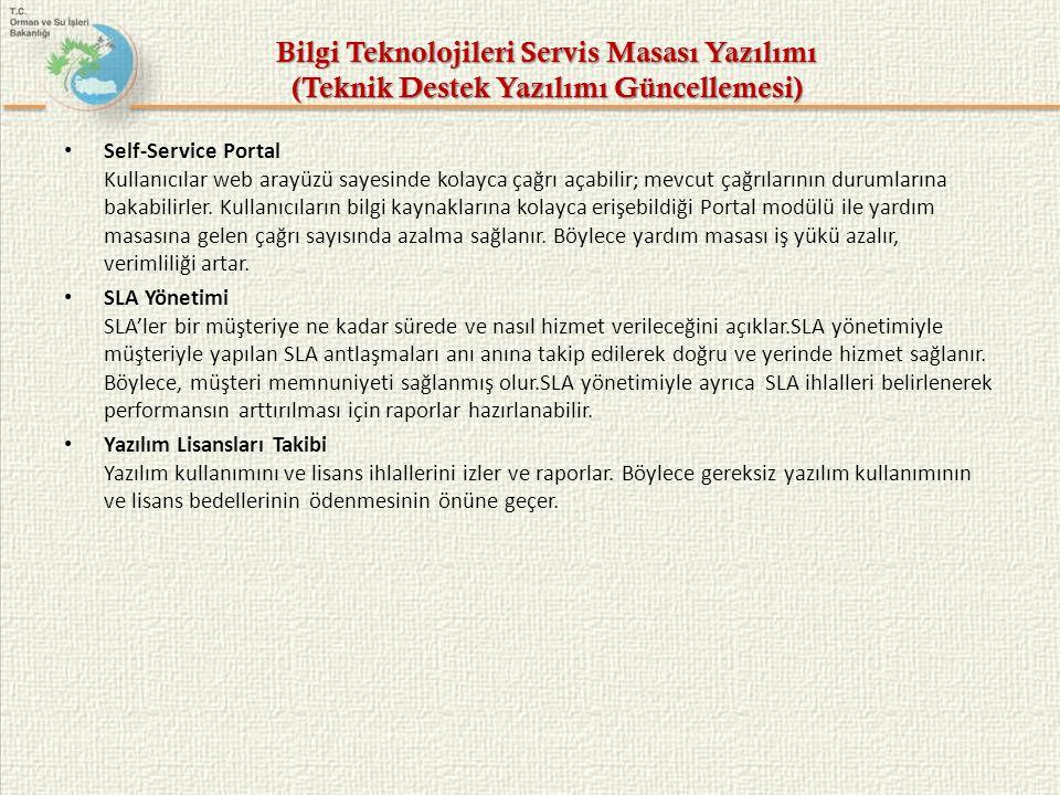 Bilgi Teknolojileri Servis Masası Yazılımı (Teknik Destek Yazılımı Güncellemesi)