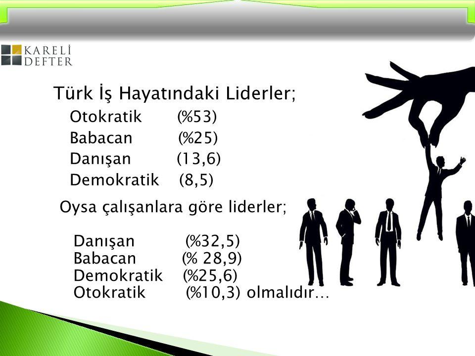 Türk İş Hayatındaki Liderler;