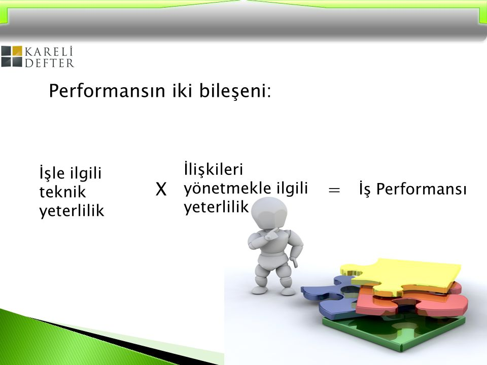 Performansın iki bileşeni: X =