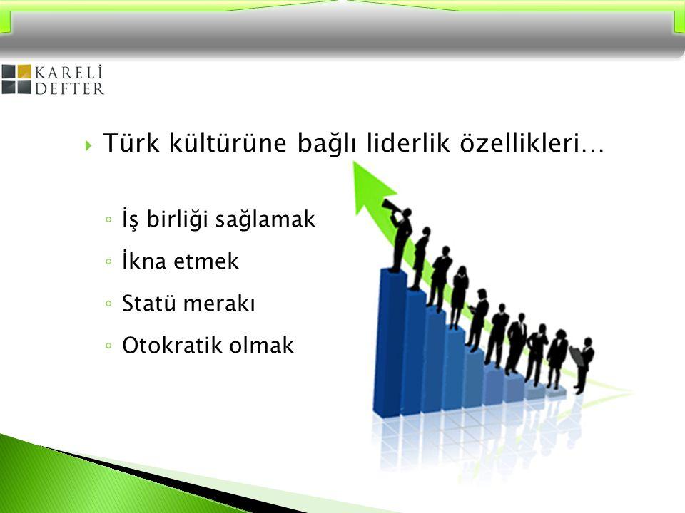 Türk kültürüne bağlı liderlik özellikleri…