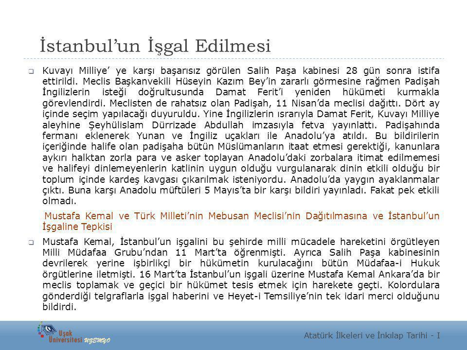 İstanbul'un İşgal Edilmesi