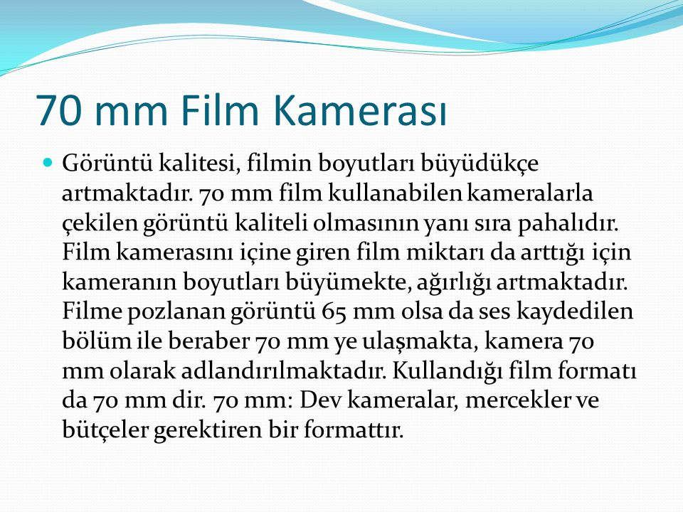 70 mm Film Kamerası