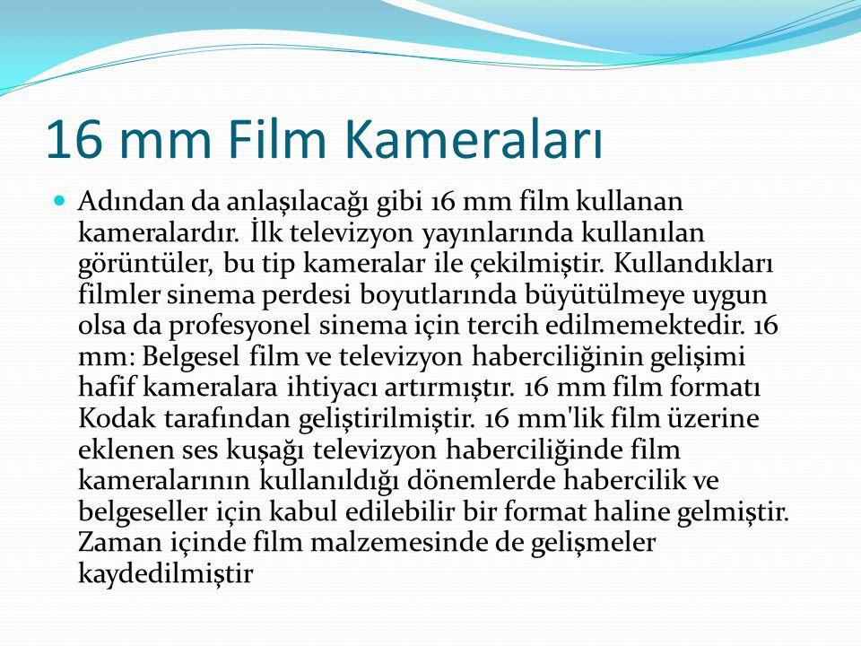 16 mm Film Kameraları