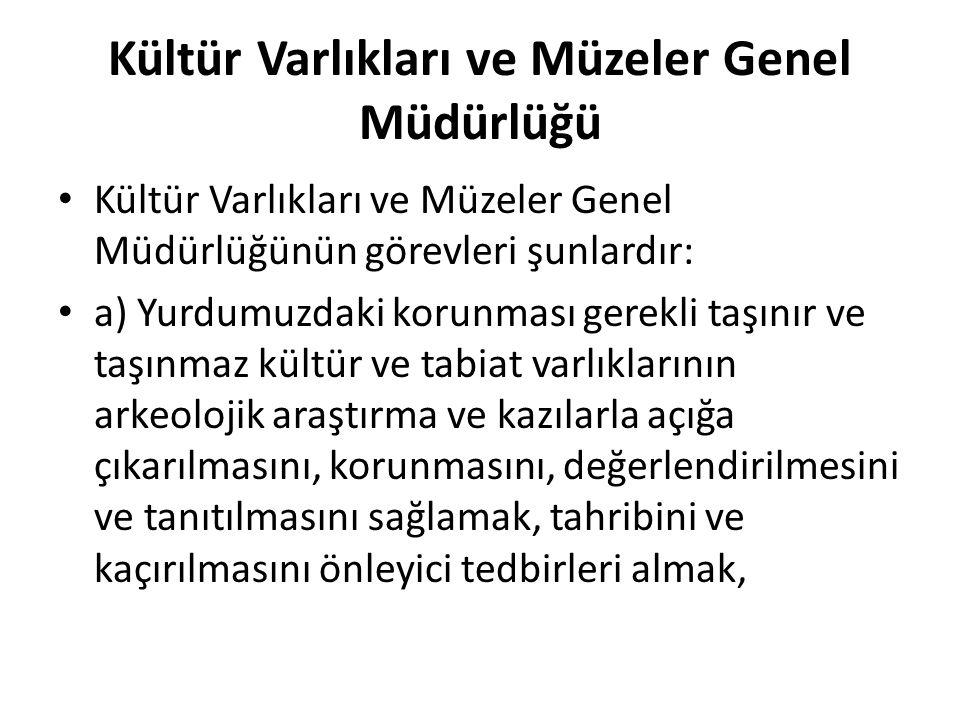 Kültür Varlıkları ve Müzeler Genel Müdürlüğü