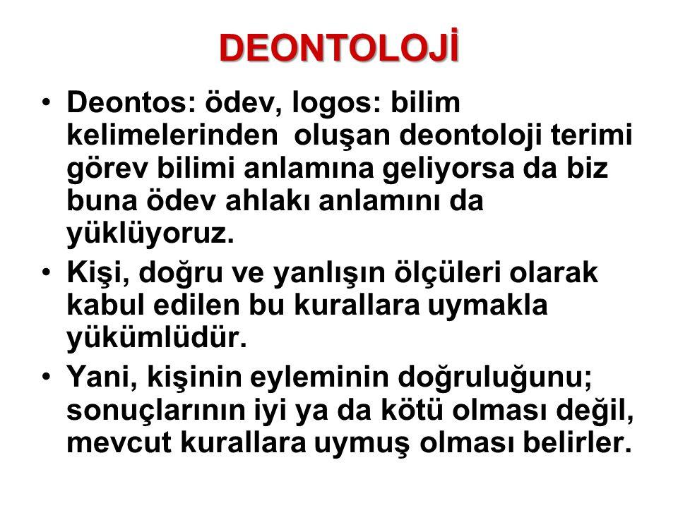 DEONTOLOJİ