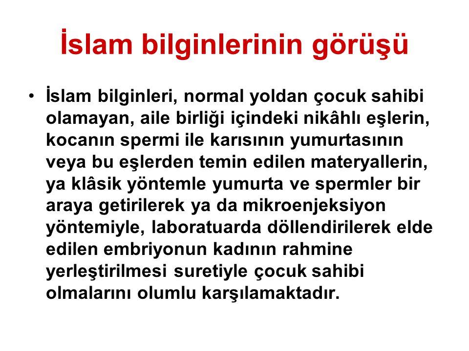 İslam bilginlerinin görüşü