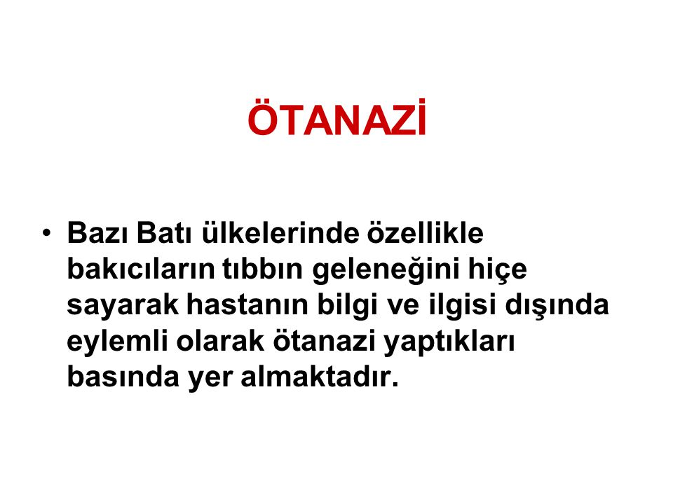 ÖTANAZİ