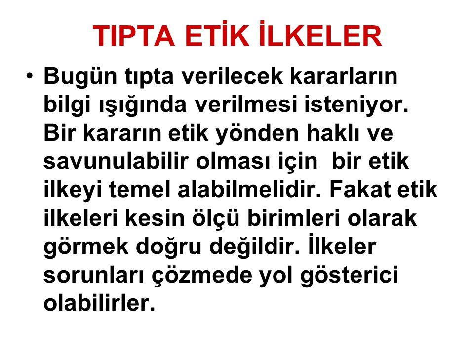 TIPTA ETİK İLKELER