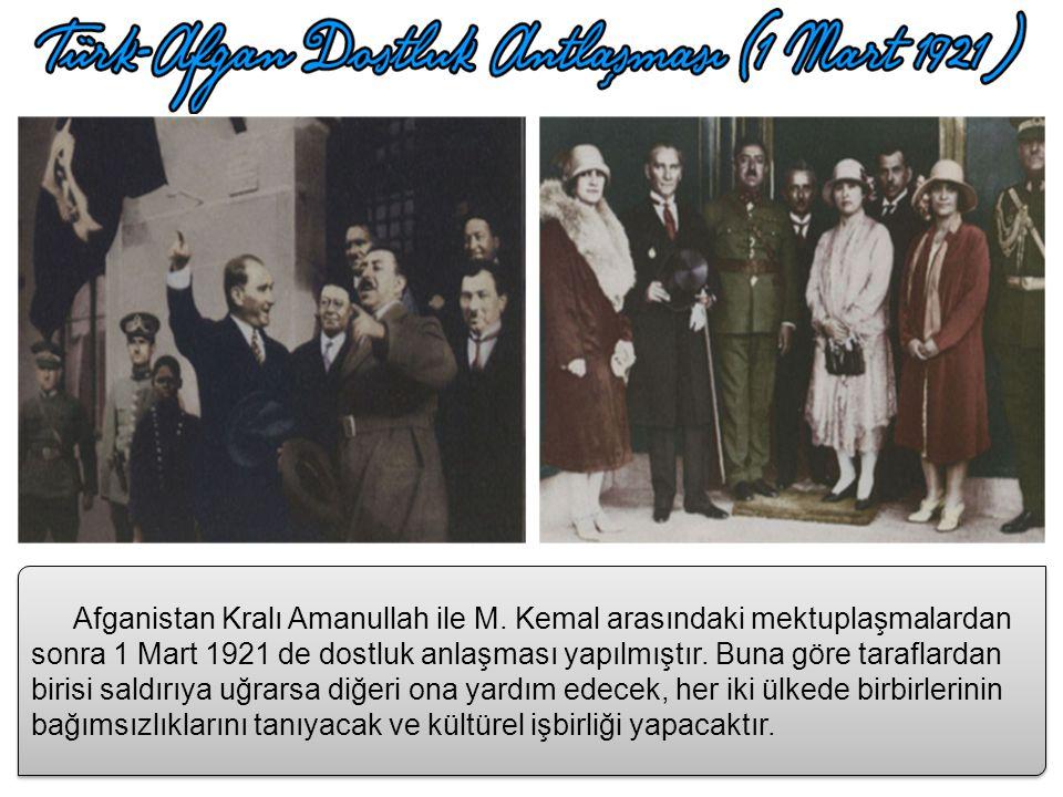 Afganistan Kralı Amanullah ile M