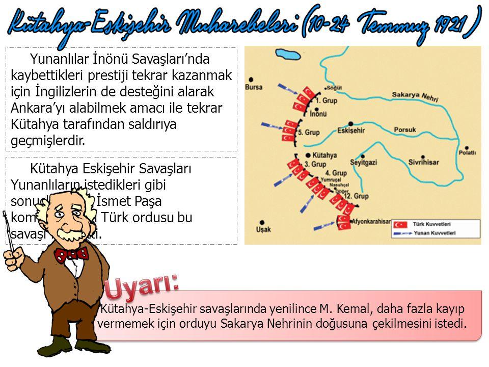 Yunanlılar İnönü Savaşları'nda kaybettikleri prestiji tekrar kazanmak için İngilizlerin de desteğini alarak Ankara'yı alabilmek amacı ile tekrar Kütahya tarafından saldırıya geçmişlerdir.