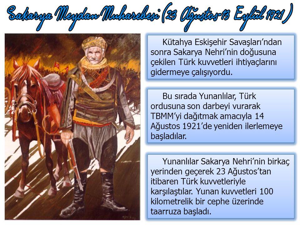 Kütahya Eskişehir Savaşları'ndan sonra Sakarya Nehri'nin doğusuna çekilen Türk kuvvetleri ihtiyaçlarını gidermeye çalışıyordu.