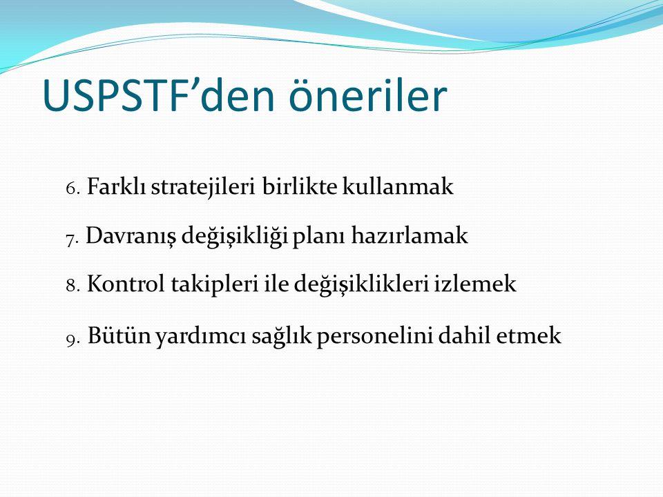 USPSTF'den öneriler