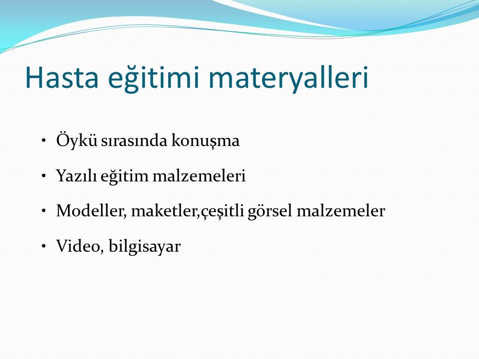 Hasta eğitimi materyalleri