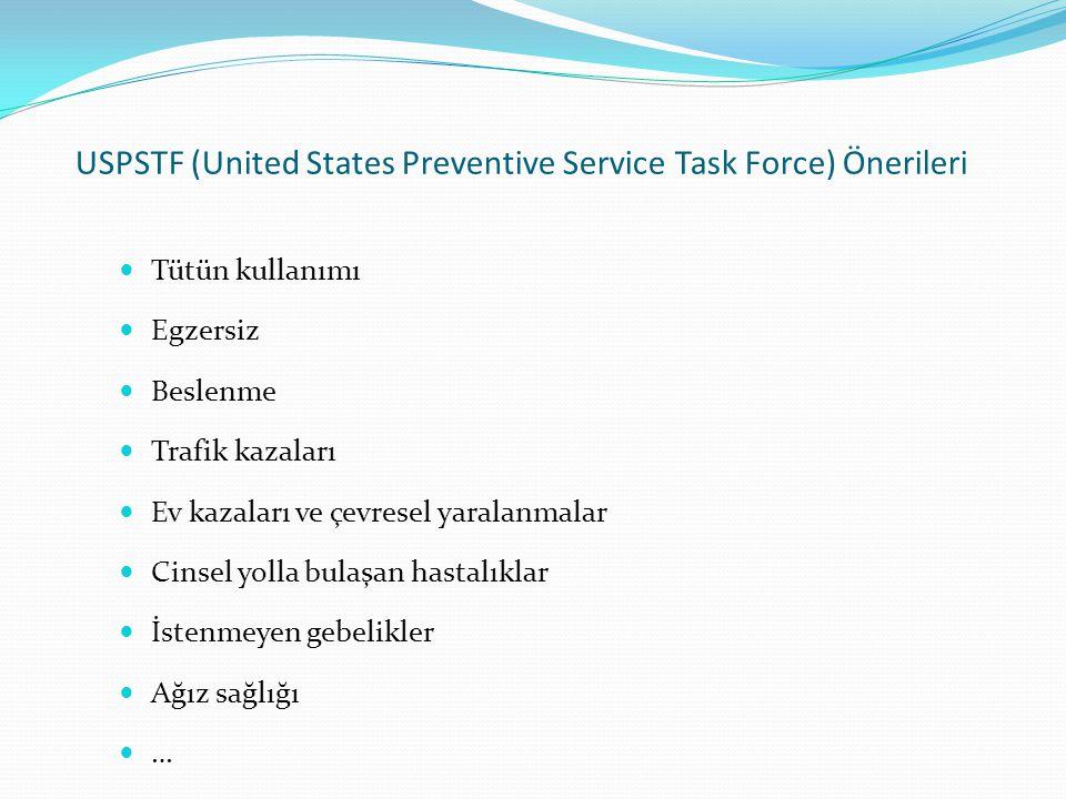 USPSTF (United States Preventive Service Task Force) Önerileri