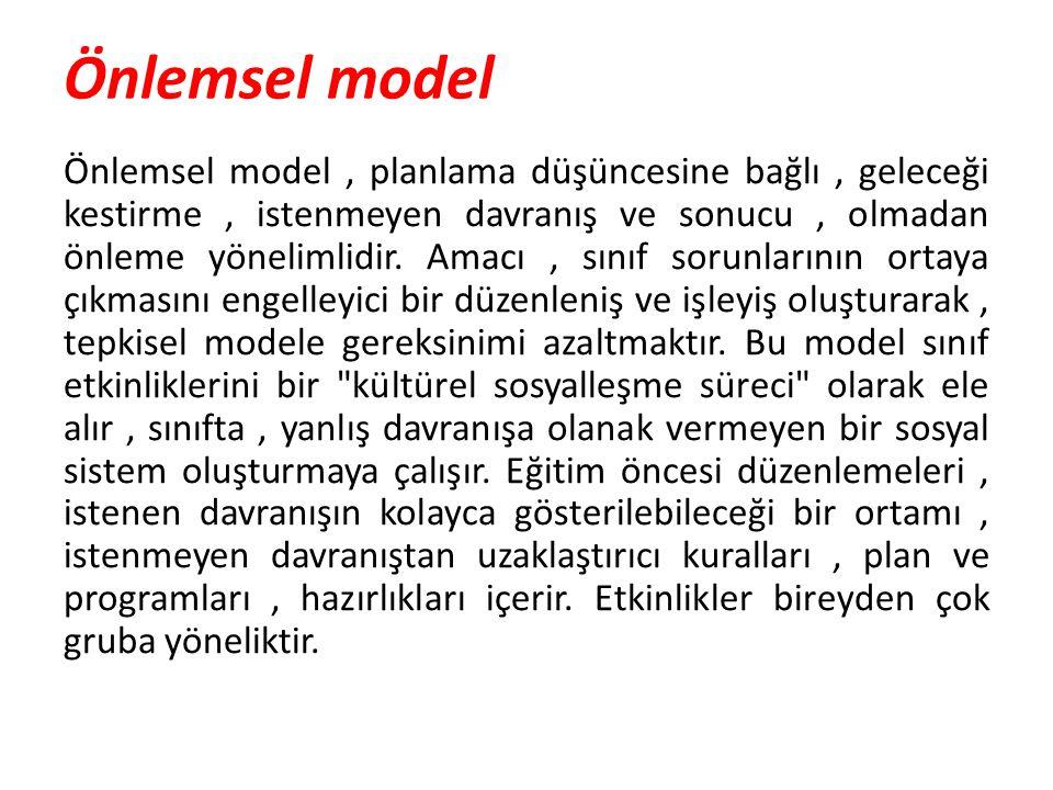 Önlemsel model