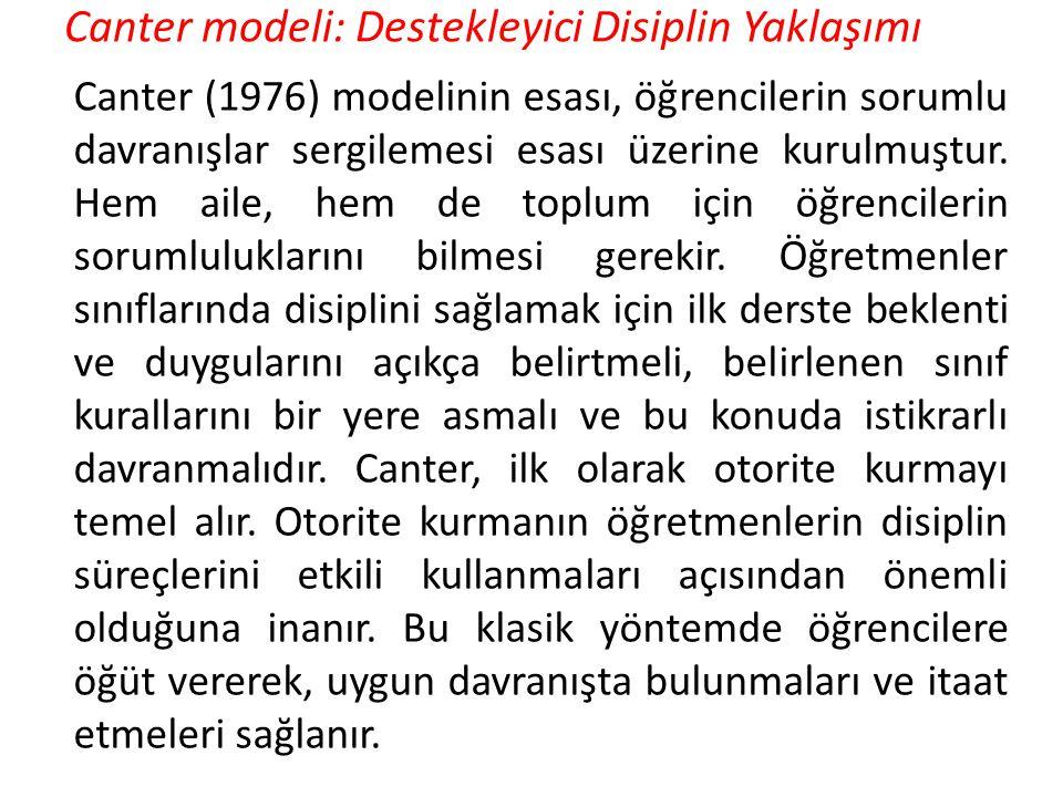 Canter modeli: Destekleyici Disiplin Yaklaşımı